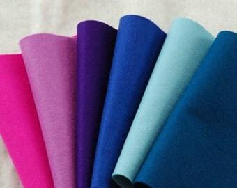 WOOL FELT LAVENDER  - 100% Pure Wool Felt Oeko-tex standard 100  20 x 30cm