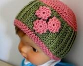 Knitting pattern (pdf file) Daisy Baby Hat (0-3/3-6/6-12/12-24 months)