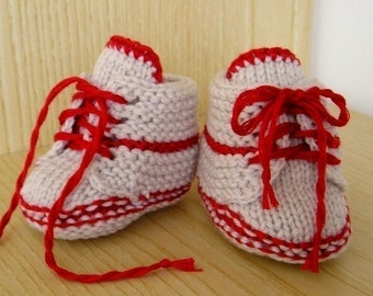 Knitting pattern (pdf file) - Baby Booties with LACE