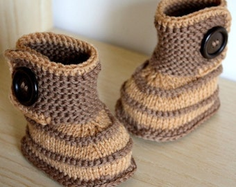 Knitting Pattern (PDF file) Autumn Baby Booties (0-6/6-12 months)