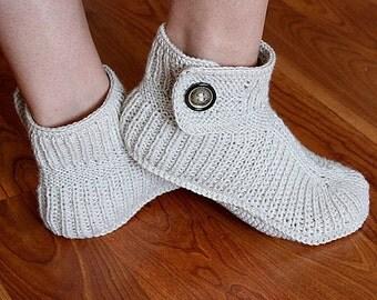 Knitting Pattern (PDF file) Winter Boots - Adult sizes