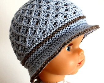 Knitting Pattern (PDF file) Baby Sun Hat (0-6/6-12/12-24/24-36 months)