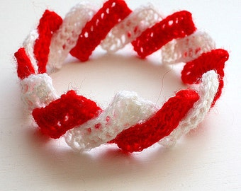Knitting Pattern (pdf file) Christmas accessories Headband/Bracelet (all sizes)