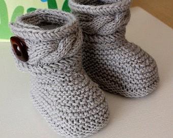 Daisy Baby Booties Knitting Pattern : Knitting PATTERN PDF file Daisy BABY Booties by ...