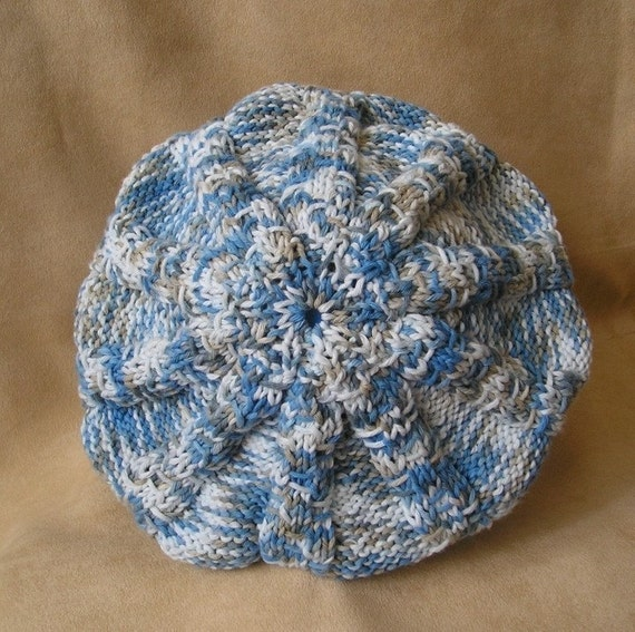 Knitting Pattern - Baby Beret Colour mixed (size 18 inc and 20 inc) from loas...