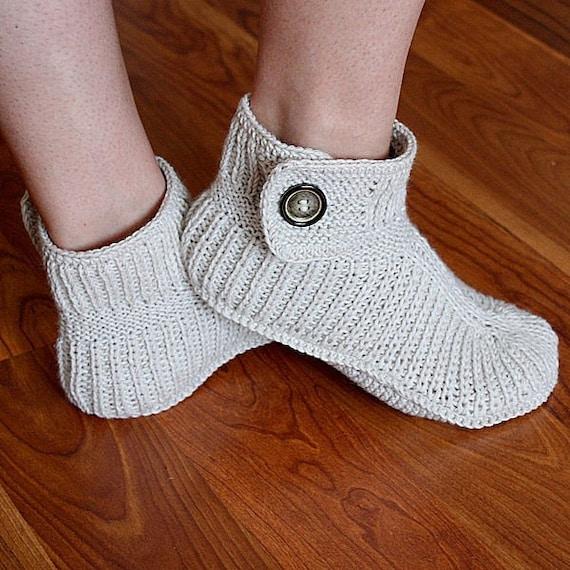 Knitting Pattern PDF file Winter Boots Adult sizes