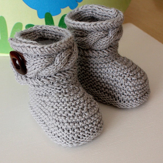 Sweaters Knitting Patterns : Knitting Pattern pdf file Stylish Baby Boots sizes