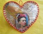 Frida Kahlo   I am Free Frida paper heart
