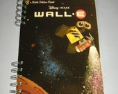 Disney Pixar WALL E - Handmade Journal with recycled paper and used Little Golden Book