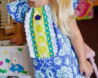 Girls Easter Dress,2T Ready to Ship,Little Girl Dress,Peasant Dress,Spring Dress,Toddler Dress,Sizes 6MO,9MO,12MO,18MO,2T,3T,4T,5T,6