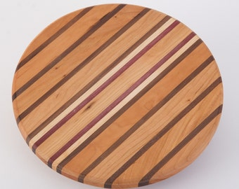 round striped cutting board