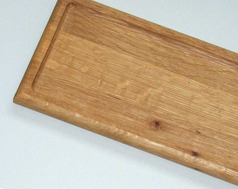 lunch tray oak set of four
