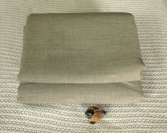 Pure LINEN fabric natural flax eco friendly sewing supplies crafts home decor from Mygypsycottage on Etsy