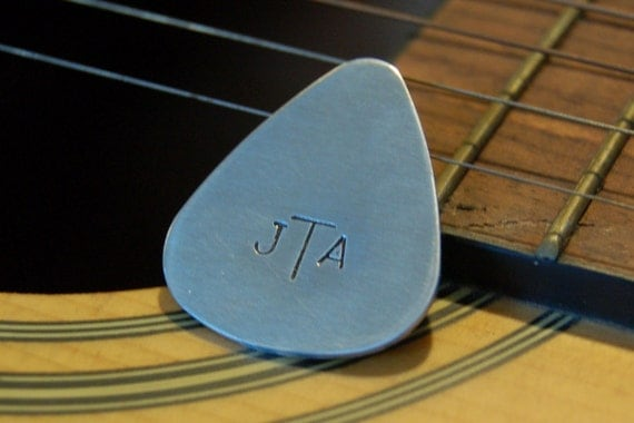 Custom Guitar Pick / Stamped Aluminum