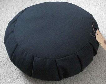 Zafu meditation cushion black regular size