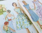 Vintage 1947 Dress Patterns - Simplicity 3426 & RARE McCall 6917 - Size 15 Pattern