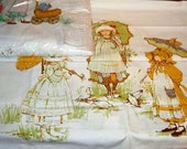Vintage Holly Hobby Twin Flat Sheet  With Pillowcase  Exquisite