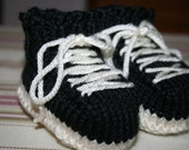 Sneakers Baby Booties Knitting Pattern