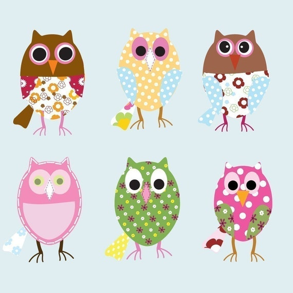 Vinyl Wall Decal Stickers Owls Girls Baby Nursery