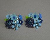 Shades of Blue Bouquet Earrings