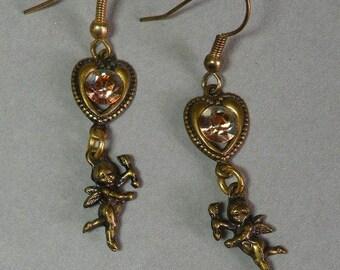 Rhinestone Cherubs Earrings