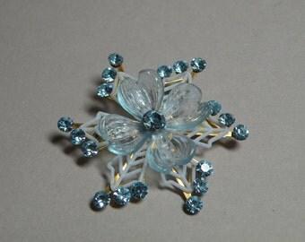 Sky Blue Flower Brooch
