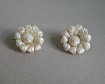 Seashell Clip Earrings