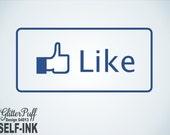 Facebook Like Stamp - Facebook Like Rubber Stamp Self-Inking (G4013) Teacher Classroom Grading Stamp - Good job