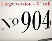 Large Custom house numbers vinyl decal for front door