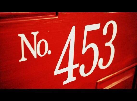 Custom house numbers vinyl decal for front door