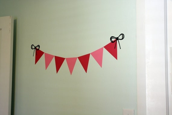 DIY Bunting Wall Decal Kit - choose your colors