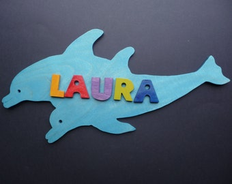 Name Plaque -Dolphin