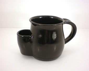 Mug, Tea Drinkers Sidekick, Gloss Black Cup - Made to Order