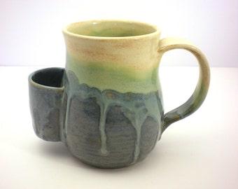 Mug, Tea Drinkers Sidekick, Southwest Blue Drip Cup