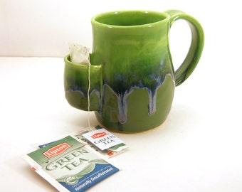 Mug, Tea Drinkers Sidekick, Cup - Mossy Green - Made to Order