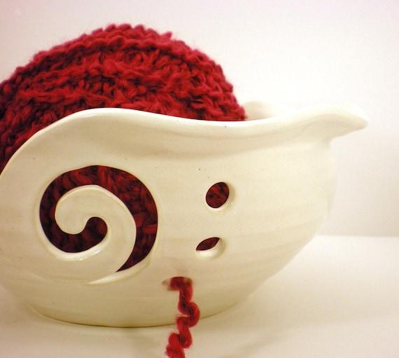Knitting Yarn Bowl : Yarn bowl crochet or knitting helper holder by