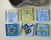 Hanukkah Decorations Refrigerator Magnets Set of 6