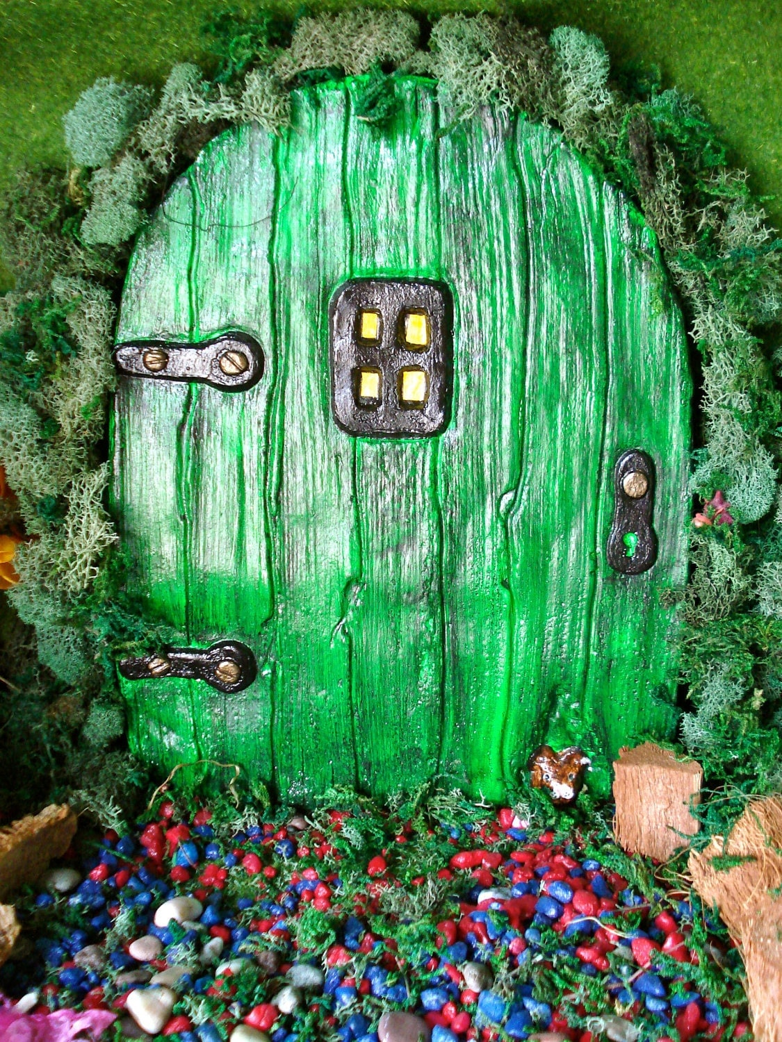 Fairy door extra large fairy door unique by fairybehindthedoor for Large gnome doors
