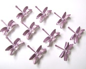 10 lilac Wedding Collection Dragonflies Embellishments