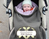 Bundle Bag PDF Sewing Pattern for Car Seat or Stroller - Two Sizes - Multiple Seasons - by Blissfulpatterns