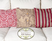 3 Pillow Case Patterns in One - PDF Sewing Pattern - FREE shipping- Brand New Pattern