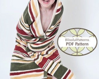 Easy to Sew Hooded Towel PDF Sewing Pattern - Baby to Toddler Size - FREE Shipping - by BlissfulPatterns
