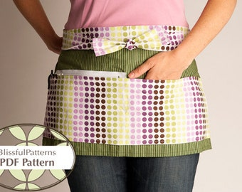Vendor Apron PDF Sewing Pattern - Craft Show Organization - By BlissfulPatterns