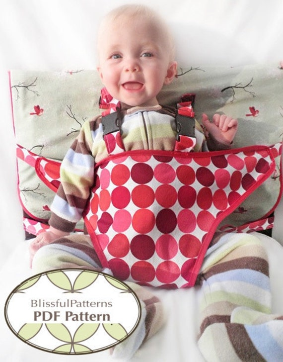 Travel High Chair PDF Sewing Pattern - FREE Shipping - by Blissfulpatterns