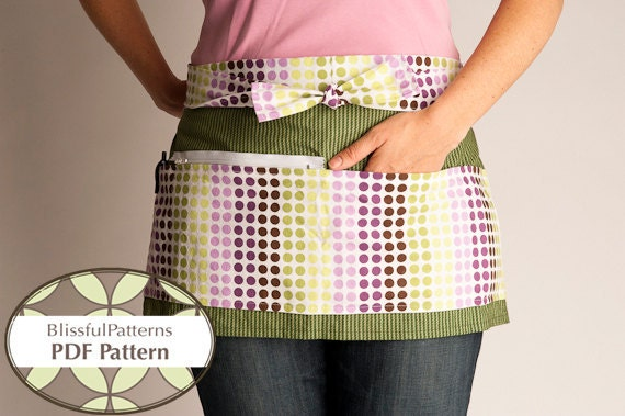 Vendor Apron PDF Sewing Pattern - Craft Show - INSTANT DOWNLOAD - By BlissfulPatterns