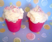 Two Wildberry Mousse  Frosted Cupcake Votives