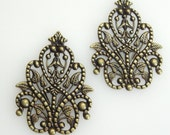 FF-600-21Ant 4pcs Classic Antique Brass Filigree, NICKEL FREE