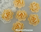 20% off: 57-00-IV-CA  6 Pcs  Beautiful Roses Cabochon - Ivory