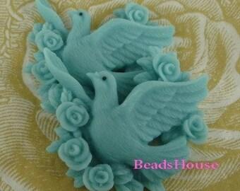 20% Discount Off - 601-00-CA 4pcs Pretty Pigeon Cabochon,Blue