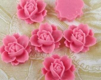 NEW 620-00-806-CA  6 Pcs Beautiful Rose Cabochon - Passion Fruit